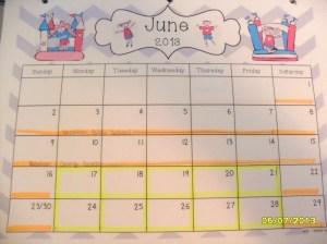 June School Schedule