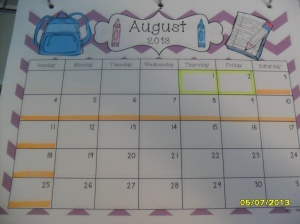 August School Schedule